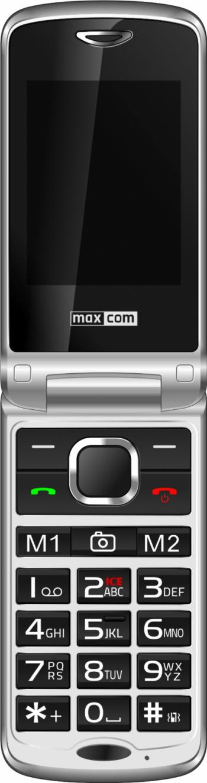 Telefon mobil MaxCom Comfort MM831 Single SIM 32GB 3G Silver Black+stand incarcare