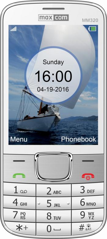 Telefon mobil Single SIM MaxCom Classic MM320 White