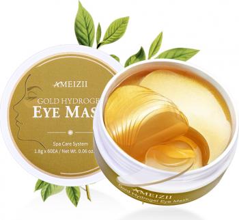 Masca hidrogel gold pentru ochi cu aur 24K si acid hialuronic AMEIZII 60 bucati