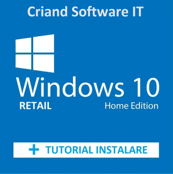 Microsoft Windows 10 Home Retail + Tutorial instalare si activare-Licenta Permanenta