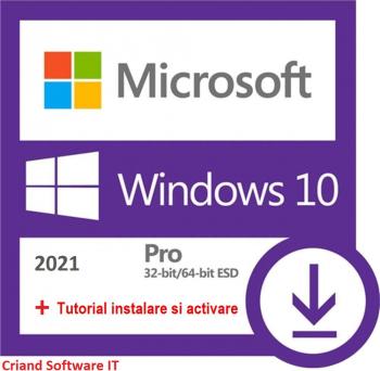 Microsoft Windows 10 Pro 32/64 bit Retail-Licenta Permanenta-CRIAND SOFTWARE IT SRL Sisteme de operare