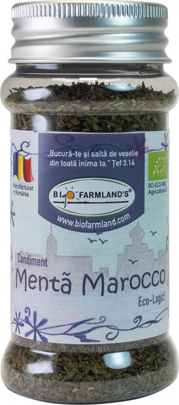 Condiment Menta Marocco FLACON 20g BIO/ECO Biofarmland