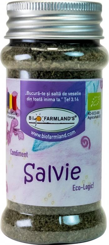 Condiment Salvie FLACON 15g BIO/ECO Biofarmland Produse gourmet