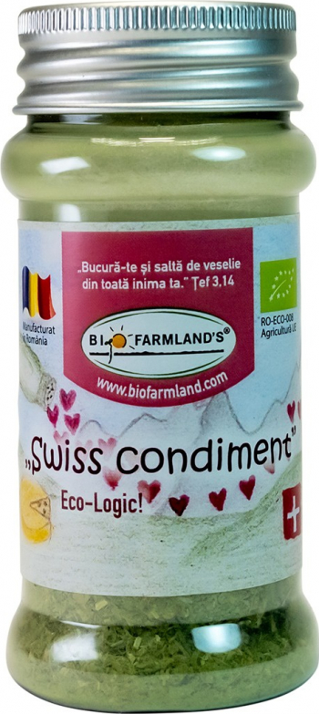 Condiment Swiss Condiment FLACON 15g BIO/ECO Biofarmland Produse gourmet
