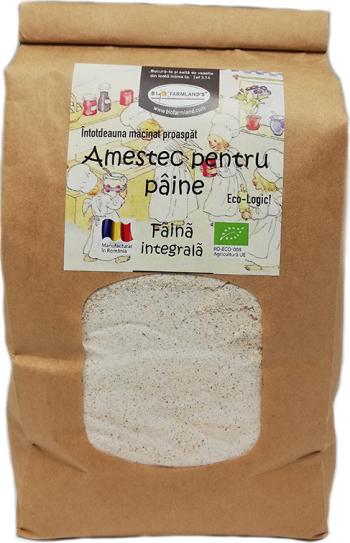 Faina Amestec pentru paine integrala 1kg Bio/ECO Biofarmland Produse gourmet