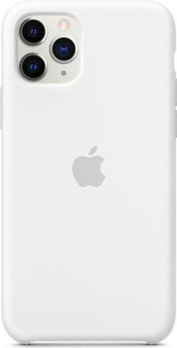 Husa Cover Apple Silicon pentru iPhone 11 Pro White Huse Telefoane