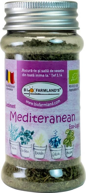 Condiment Amestec Mediteranean FLACON 15g BIO/ECO Biofarmland