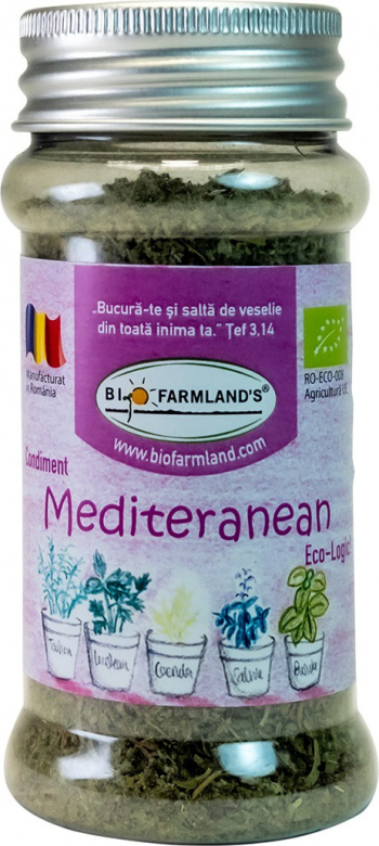 Condiment Amestec Mediteranean FLACON 15g BIO/ECO Biofarmland Produse gourmet