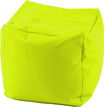 Fotoliu Mic Taburet Cub - Green Neon pretabil si la exterior umplut cu perle polistiren Fabricat in Romania Fotolii