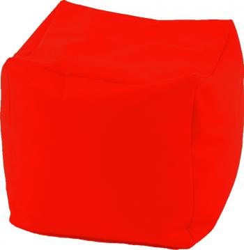 Fotoliu Mic Taburet Cub - Neon Orange pretabil si la exterior umplut cu perle polistiren Fabricat in Romania Fotolii