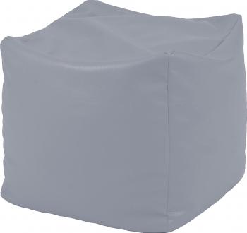 Fotoliu Mic Taburet Cub - Panama Grey pretabil si la exterior umplut cu perle polistiren Fabricat in Romania Fotolii