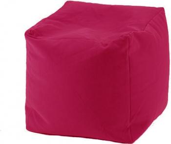 Fotoliu Mic Taburet Cub - Panama Pink pretabil si la exterior umplut cu perle polistiren Fabricat in Romania Fotolii