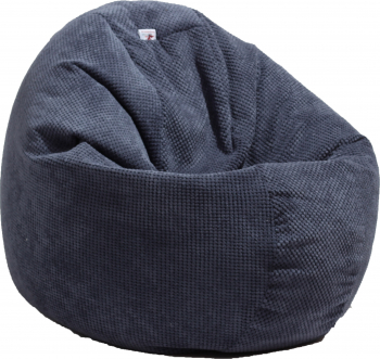 Fotoliu Puf tip Sac Relaxo - Dusty Blue Gama Plush Honey cu husa detasabila textila umplut cu perle polistiren Fotolii
