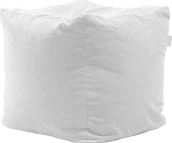 Fotoliu Pufrelax Taburet Cub Gama Premium - Angora Grey cu husa detasabila textila umplut cu perle polistiren Fotolii