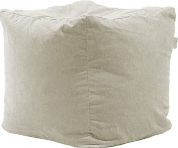 Fotoliu Pufrelax Taburet Cub Gama Premium - Rainy Day cu husa detasabila textila umplut cu perle polistiren Fotolii