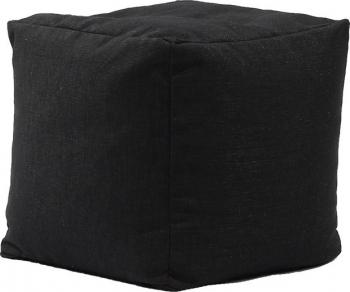 Fotoliu Pufrelax Taburet Cub Gama Premium - Eerie Black cu husa detasabila textila umplut cu perle polistiren Fotolii