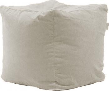 Fotoliu Pufrelax Taburet Cub XL Gama Premium - Rainy Day cu husa detasabila textila umplut cu perle polistiren Fotolii