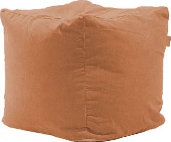 Fotoliu Pufrelax Taburet Cub Gama Premium - Terracotta Orange cu husa detasabila textila umplut cu perle polistiren Fotolii