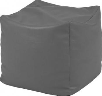 Fotoliu Taburet Cub - Dark Grey GAMA PREMIUM PU umplut cu perle polistiren Fotolii