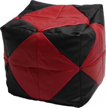 Fotoliu Taburet Cub - Red Diamond piele eco umplut cu perle polistiren Fotolii