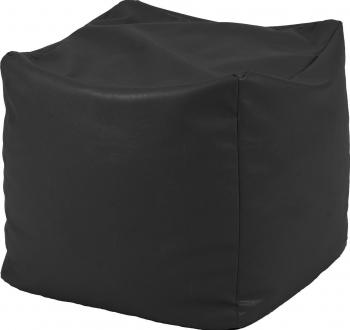 Fotoliu Taburet Cub - Teteron Black pretabil si la exterior umplut cu perle polistiren Fotolii