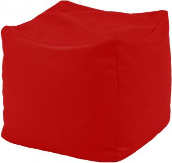 Fotoliu Taburet Cub - Teteron Red pretabil si la exterior umplut cu perle polistiren Fotolii