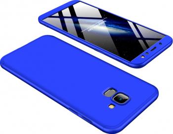 Husa Albastru Deschis cu Protectie 360 Grade + Folie de Sticla - Samsung Galaxy A12