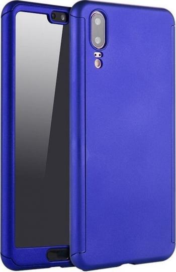 Husa Albastru Inchis cu Protectie 360 Grade + Folie de Sticla - iPhone 11 PRO Huse Telefoane
