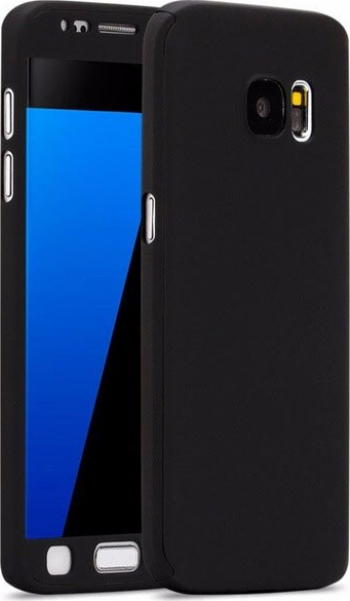 Husa Neagra cu Protectie 360 Grade + Folie de Sticla - Huawei P40 Lite E
