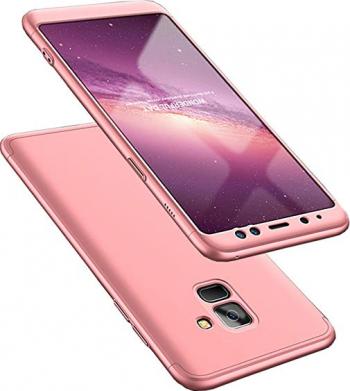 Husa Rose GOLD cu Protectie 360 Grade + Folie de Sticla - Samsung Galaxy M11