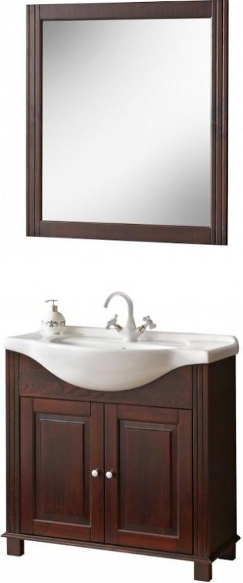 Set mobilier baie COOL cu masca 65cm lungime lavoar si oglinda wenge