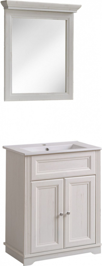 Set mobilier baie paly alb masca oglinda si lavoar 80cm lungime Mobilier baie