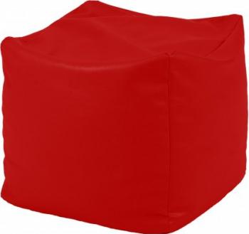 Fotoliu Mic Taburet Cub - Panama Red pretabil si la exterior umplut cu perle polistiren Fabricat in Romania Fotolii