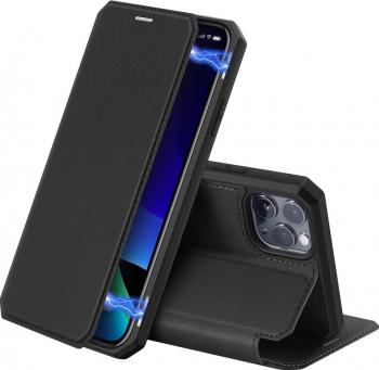 Husa Premium Flip Cover Duxducis Skin X iPhone 11 Pro Max negru Huse Telefoane