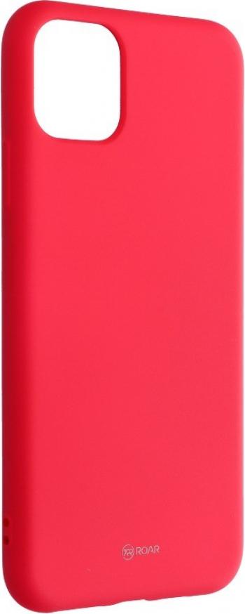 Husa Spate Silicon Roar Jelly Compatibila Cu iPhone 11 Pro Max Roz Aprins Huse Telefoane