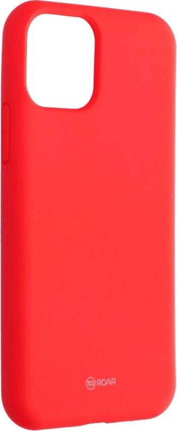 Husa Spate Silicon Roar Jelly Compatibila Cu iPhone 11 Pro Max Roz Piersica Huse Telefoane