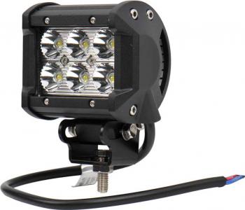 Proiector LED Off Road / Utilaje 4 inchi 18w 12v / 24v Flood