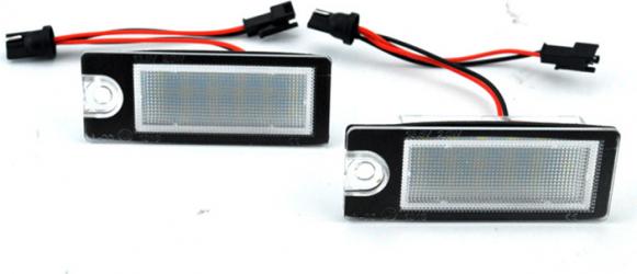 Set 2 Lampi LED numar Volvo V70 CX70 S60 S80 XC90