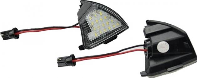 Set doua lampi LED oglinda lumina exterioara VW Golf 5 MK5 Passat B6 Eos Golf 6 Variant Sharan MK2 7N