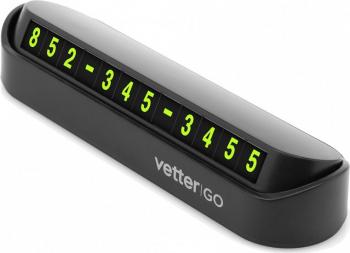 Suport Numar Telefon Parcare Retractabil Black Vetter Alarme auto si Senzori de parcare