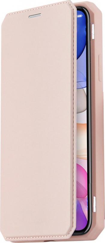 Husa Flip Skin din Piele PU OptimProtection Ultra Protect pentru iPhone 11 Pro Rose Huse Telefoane