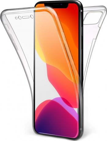 Husa Full TPU 360 fata + spate pentru Apple Iphone 11 Pro Max Transparent Huse Telefoane
