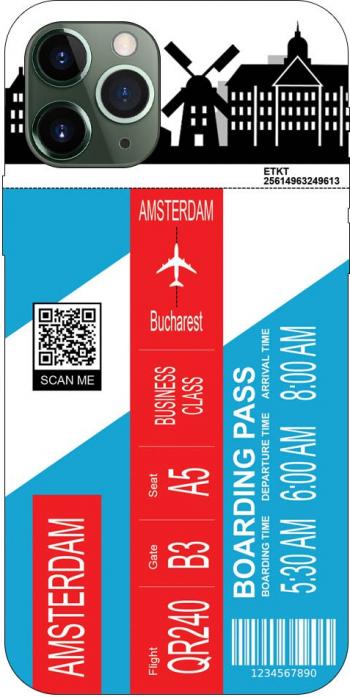 Husa Silicon Soft Upzz Print Travel Compatibila cu Iphone 11 Pro Model Amsterdam Huse Telefoane