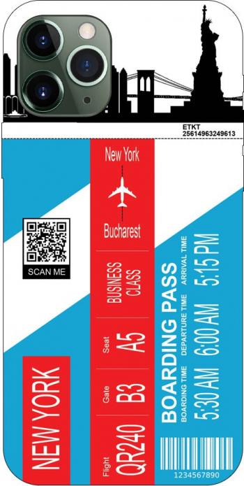 Husa Silicon Soft Upzz Print Travel Compatibila cu Iphone 11 Pro Model New York Huse Telefoane
