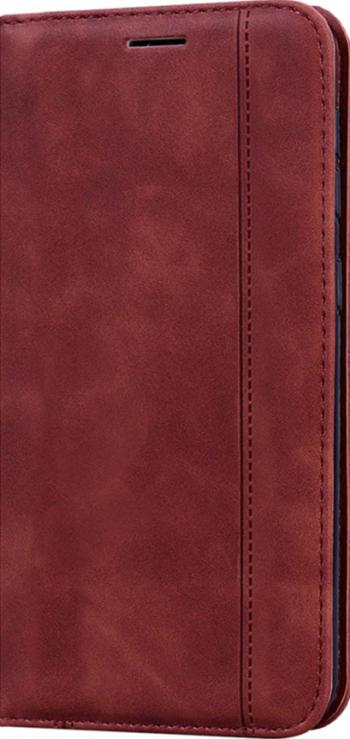 Husa tip carte din Piele PU Optim Full Protection cu inchidere Magnetica pentru Samsung Galaxy M11 Maro