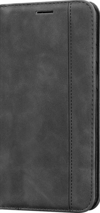 Husa tip carte din Piele PU Optim Full Protection cu inchidere Magnetica pentru Samsung Galaxy M11 Gri