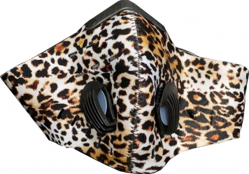 Masca HOPE R cu supapa si filtru carbon activ anti poluare reutilizabila leopard pentru alergat bicicleta trotineta Masti chirurgicale si reutilizabile