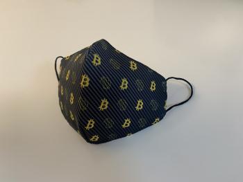 Set 3 Masti Fashion BITCOIN Reutilizabile 2 straturi 3 marimi Masti chirurgicale si reutilizabile