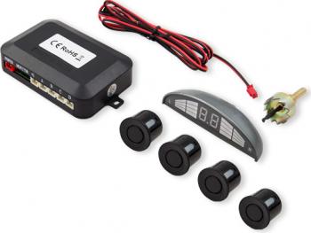 Set senzori de parcare Savio CP-03 kit 4 senzori display LED si avertizare sonora Negru Alarme auto si Senzori de parcare
