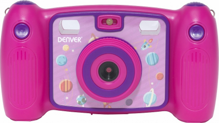 Camera Foto Digitala pentru Copii Denver KCA-1310 Full HD 7 Efecte video si foto include joc Snake Roz Aparate foto compacte